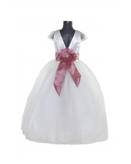 Vestido de niña Modelo Rosy Fajo de color
