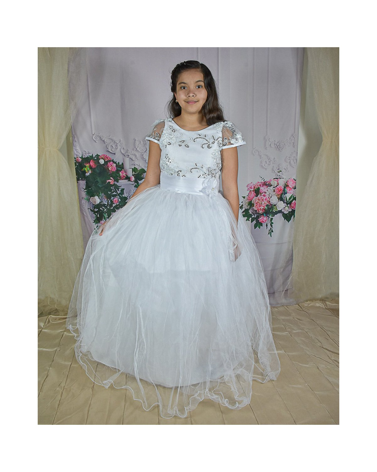 First Communion Dress Model Rosy