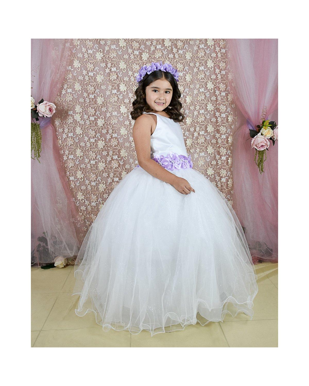 Vestido de Niña Modelo Elizabeth Fajo de color